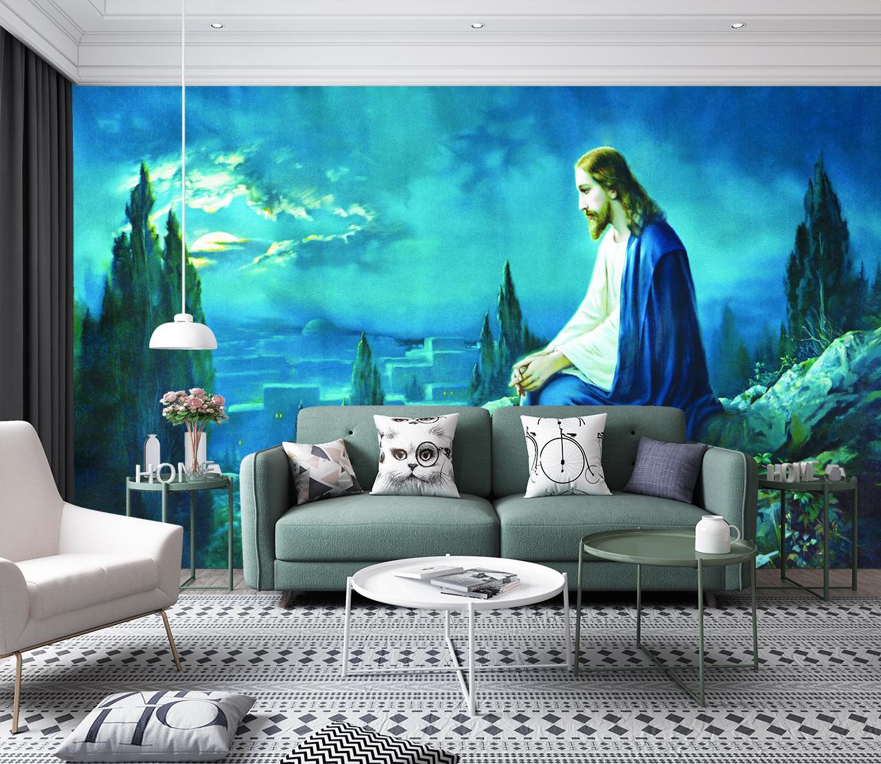 Tranh Dán Tường Công giáo Chúa Cầu Nguyện
