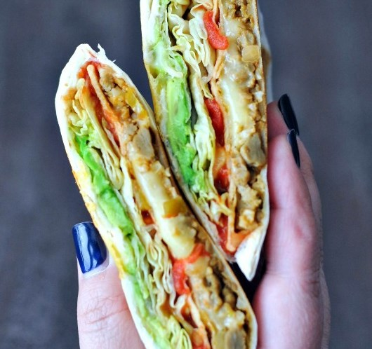 VEGAN CRUNCHWRAP #lunch #vegetarian