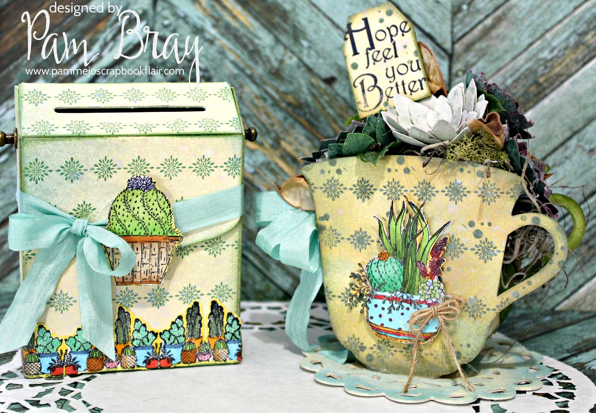 Pam Bray Designs: A Girl with Flair: Eileen Hull Teacup and Post Box  Release!!!