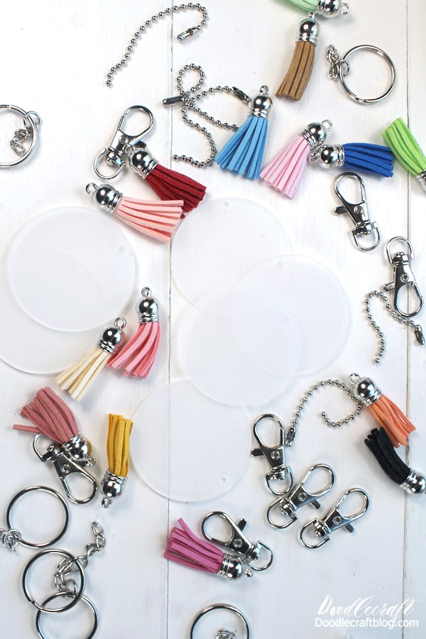 This kit comes with everything needed to make acrylic keychains. Just acrylic blanks are available too.