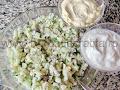 Salata de conopida preparare reteta - amestecam maioneza si iaurtul