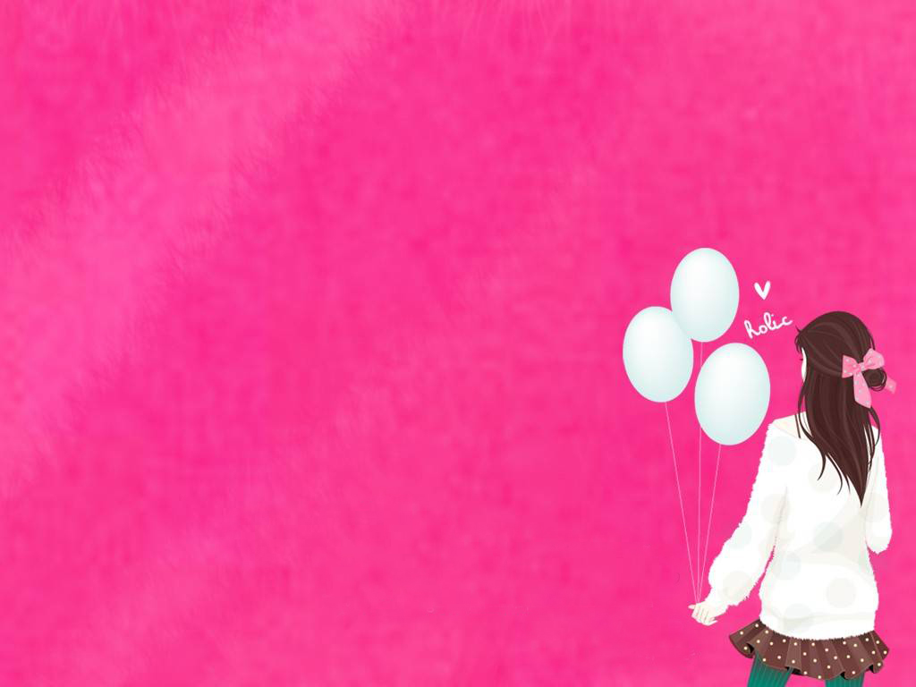 Cute Girl Powerpoint Background 1