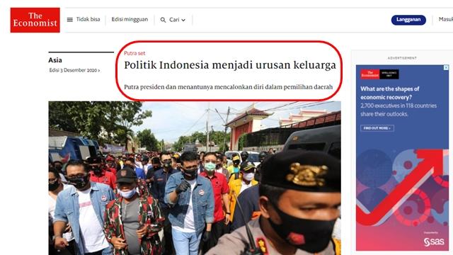 Media Asing Soroti Dinasti Politik Keluarga Jokowi, Sebut Anak-Mantunya Tidak Punya Pengalaman
