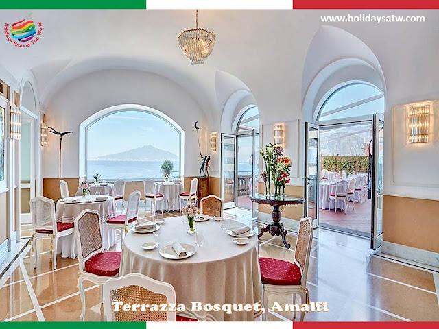 Top restaurants in Amalfi, Italy