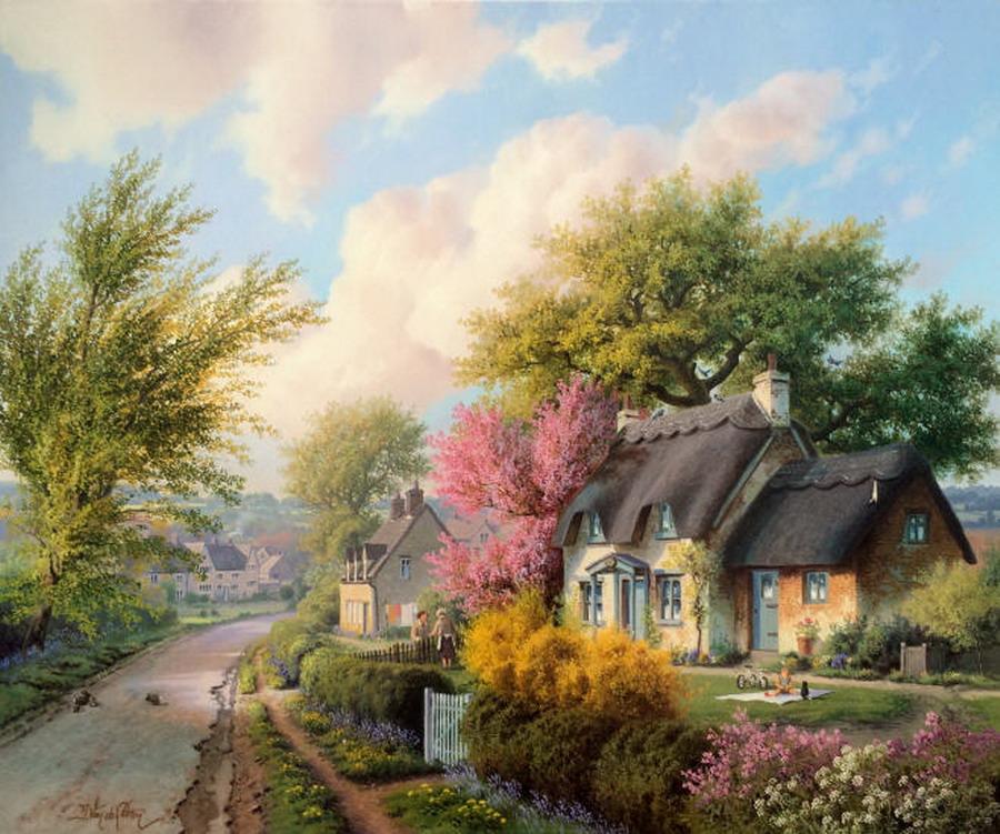 Im genes arte pinturas paisajes costumbristas del campo - Paisajes de casas de campo ...