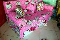 Sofa bed Inoac motif Hello Kitty pink lipat inoactasik