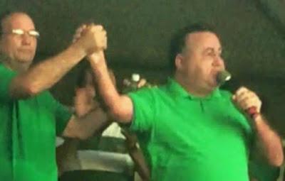 Resultado de imagem para deputado bernardo amorim, prefeito waldênio Amorim e maninha leite