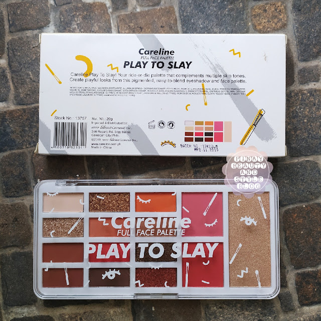 careline play to slay palette review swatches price