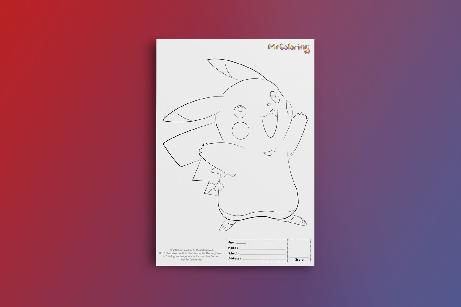 image relating to Pokemon Stencils Printable identified as Printable Pokemon Template Pikachu Coloring Site pdf