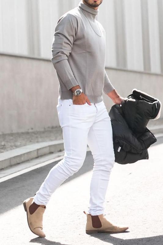 Tone on tone outfit ideas men.