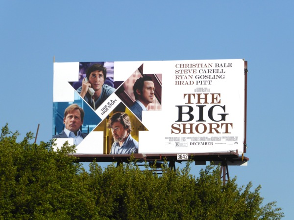Big Short movie billboard