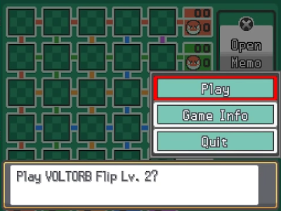 Pokémon HeartGold SoulSilver play Voltorb Flip level 2 game corner