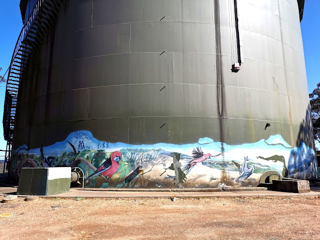 Mount Riverview Painted Water Tank | Scott Nagy & Krimsone