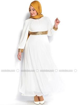 Baju Muslim Gamis Sifon Modern Untuk wanita gemuk