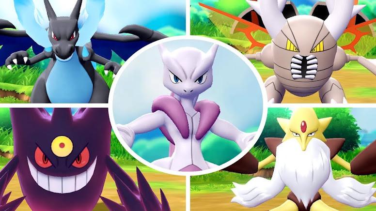 Mega Evolução Pokémon Let's GO Pikachu e Eevee