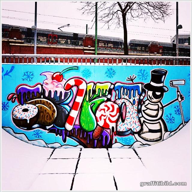 Graffiti Frohe Weihnachten 2019
