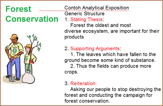 contoh analytical exposition thesis argument reiteration
