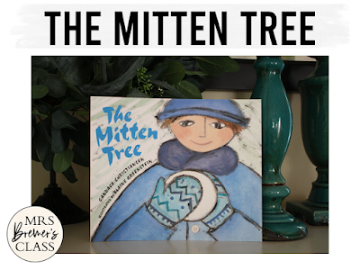 The Mitten Tree winter book study literacy unit with Common Core aligned companion activities and a craftivity for K-1