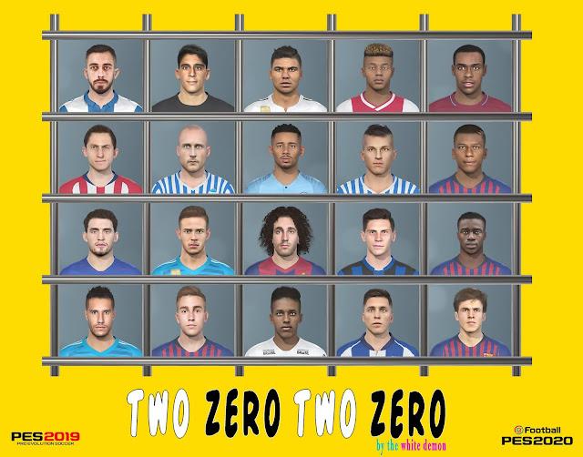 PES 2020 Two Zero Two Zero Facepack by The White Demon