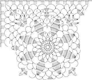 How to crochet Granny Square Lace Top Free pattern