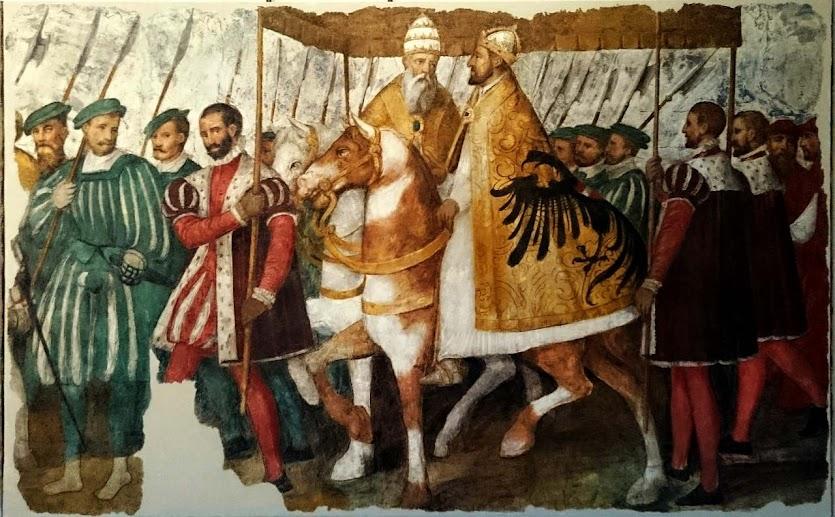Papa Clemente VII e emperador Carlos V, Jacopo Ligozzi (1547–1627), Museo degli affreschi Giovanni Battista Cavalcaselle, Verona