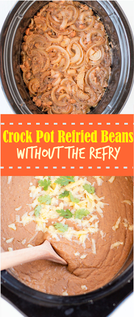 CROCK POT REFRIED BEANS WITHOUT THE REFRY