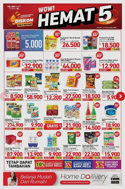 Promo TRANSMART CARREFOUR Katalog Weekend JSM periode 13-17 November 2020
