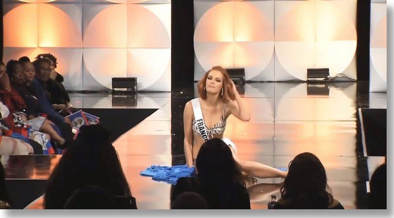 Pasarela tramposa generó festival de porrazos en la previa del Miss Universo