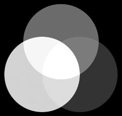 rueda de colores rgb convertida a escala de grises