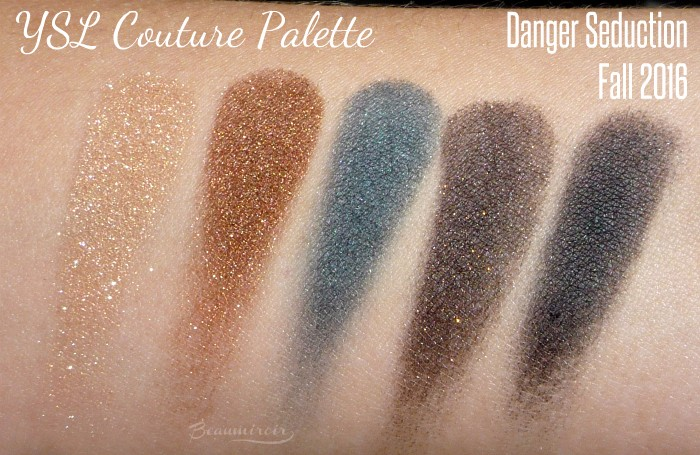 YSL Couture Palette in Danger Seduction swatches