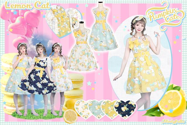 Pumpkin Cat, Lemon Cat, Mintyfrills, Otome, dress