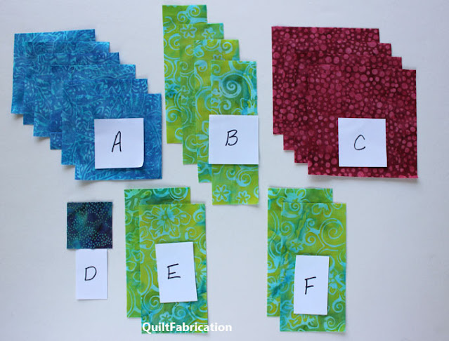 squares and rectangles of fabric