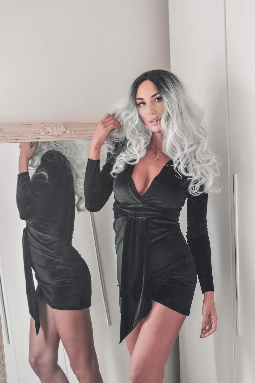 abito velluto nero
