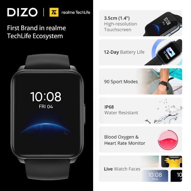 DIZO บริษัทในกลุ่ม realme Techlife เปิดตัว DIZO Watch ตอบโจทย์กีฬาที่ดีที่สุด พร้อมอายุแบตเตอร์รี่ยาวนาน