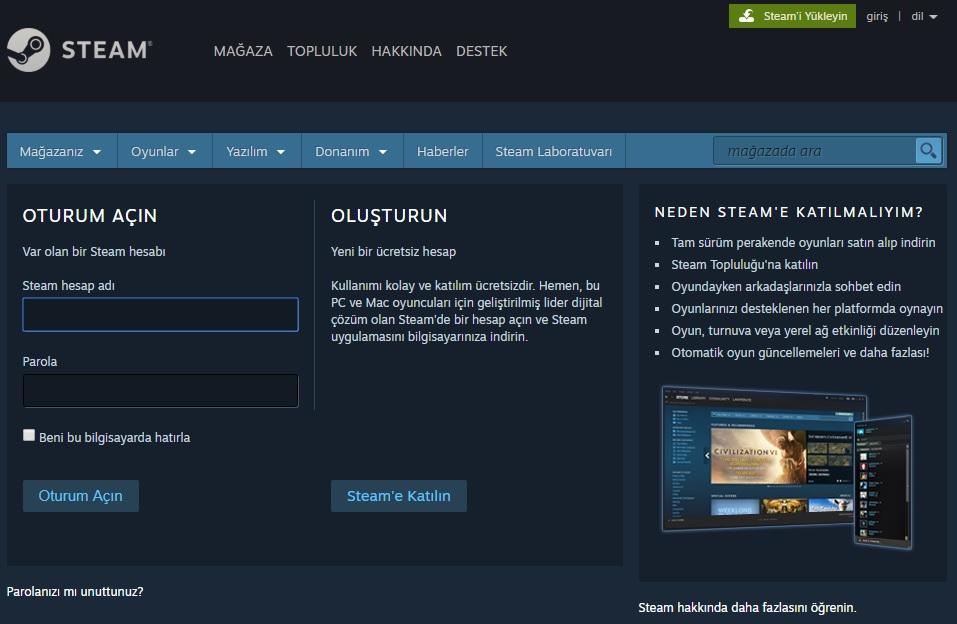 Steam Üye Nasıl İndirilir
