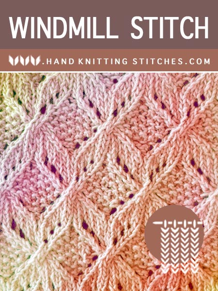 The Art of Lace Knitting - Windmill Lace Pattern. Combination of lace and cable