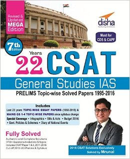 Topic Wise UPSC Past Prelims Papers Solved 1995 - 2016