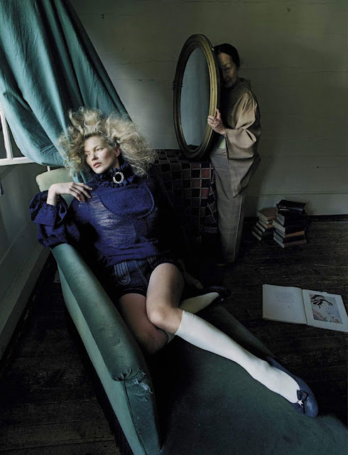 Kate Moss and Setsuko Ideta in Vogue Italia September 2015 By Tim Walker