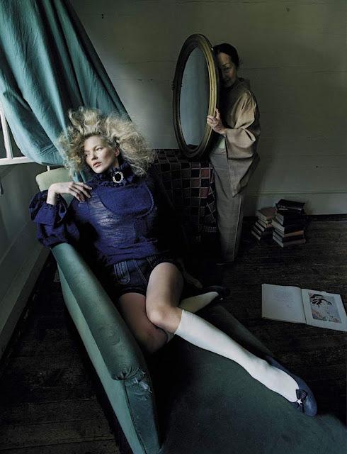 Kate Moss and Setsuko Ideta in Vogue Italia September 2015 By Tim Walker