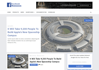 FB NewsRoom Blogger Template
