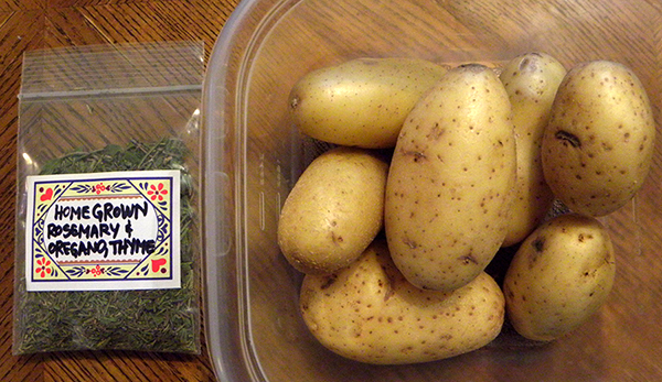 Jennifer's herb packet and potatoes