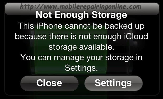 iphone says not enough storage iphone not enough storage available message problem 6565