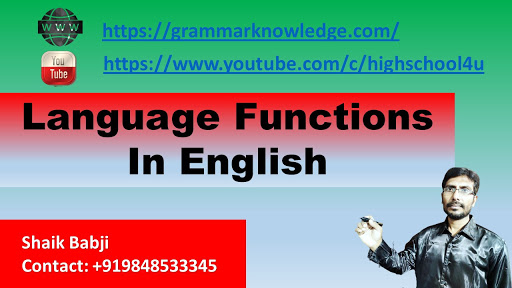 Language Functions In English