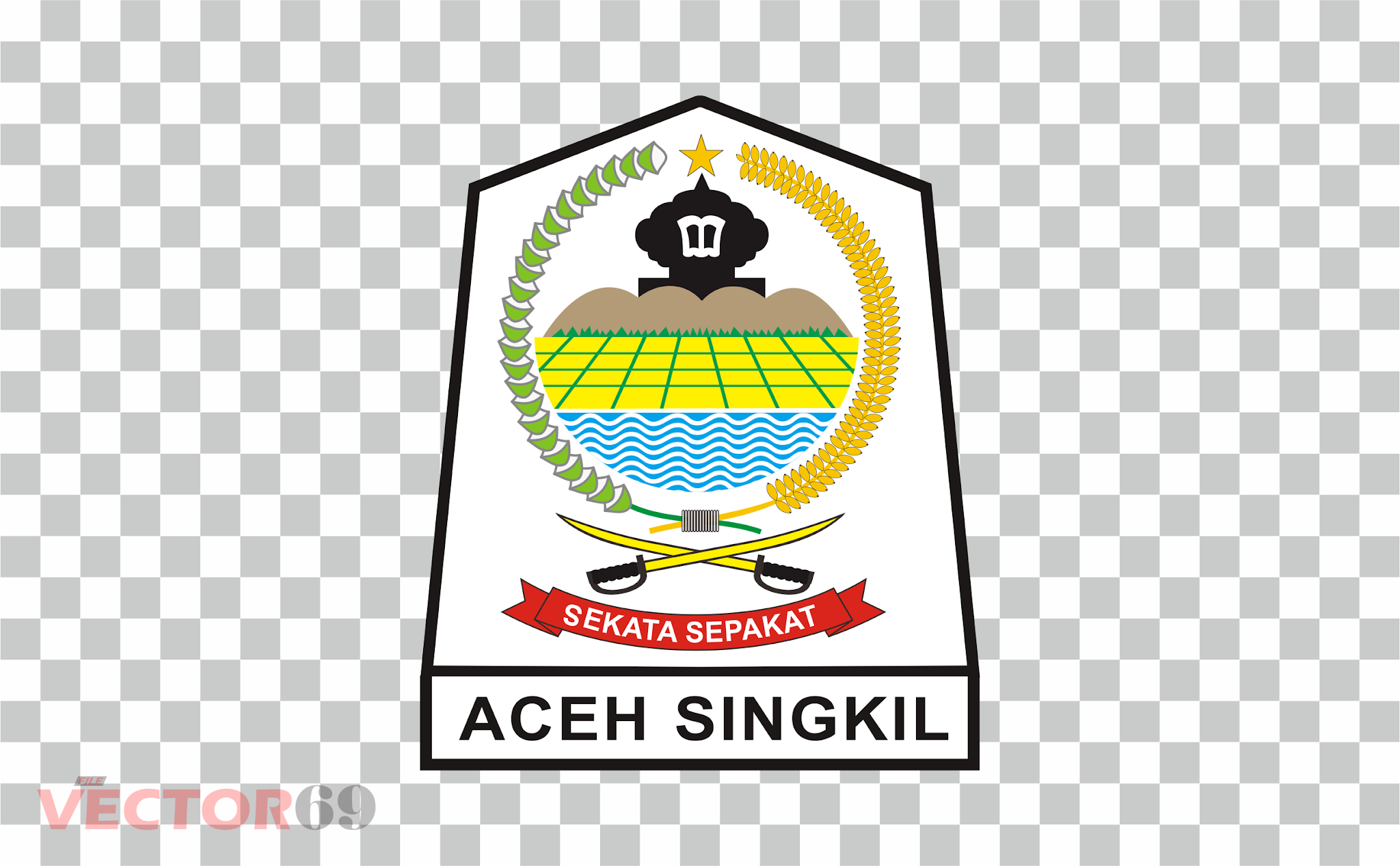 Kabupaten Aceh Singkil Logo - Download Vector File PNG (Portable Network Graphics)