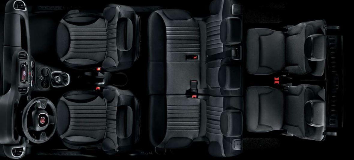 Dimensioni degli interni di Fiat 500L Living
