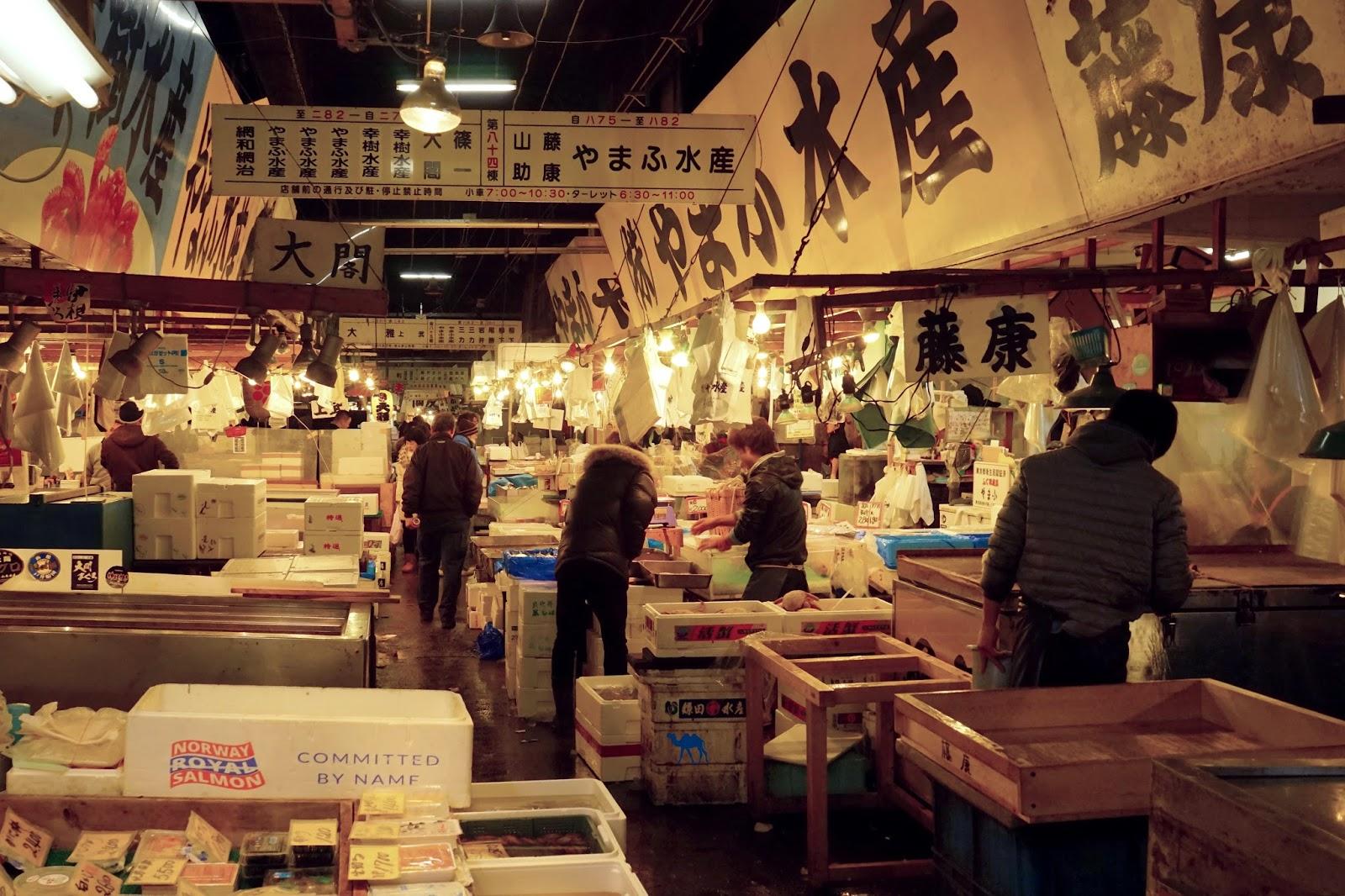 Le Chameau Bleu - Marché au poisson de Tokyo - Tsukiji