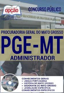 Apostila analista PGE-MT concurso PGE de Mato Grosso MT.