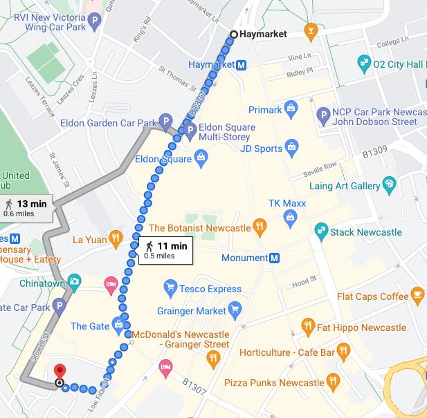 Blackfriars Newcastle - Set Lunch Menu Review - walk from Haymarket