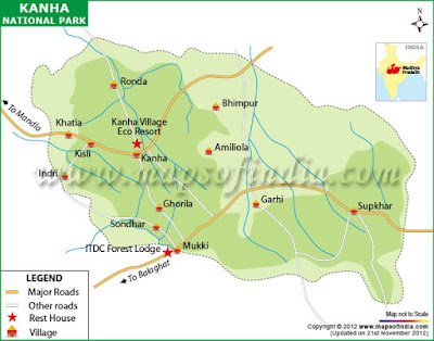 Kanha National Park Map