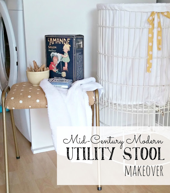 Mid-Century Modern Utility Stool Makeover